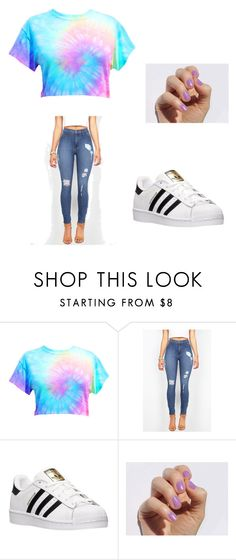 """summer"" by brookie2606 ❤ liked on Polyvore featuring adidas"