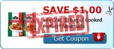 Tri Cities On A Dime: SAVE $1.00 ON A BAG OF COOKED PERFECT MEATBALLS