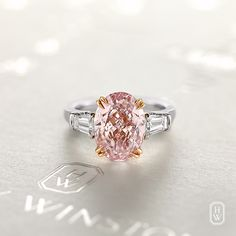 Since Harry Winston has transformed diamonds into art and revolutionized modern jewelry and watch design. Visit the official Harry Winston website. Pear Diamond Engagement Ring, Pink Diamond Ring, Pink Diamonds, Coloured Diamonds, Diamond Girl, Harry Winston, Pink Jewelry, Diamond Jewelry, Pretty Rings
