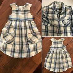 Custom Men's Dress Shirt Into Little Girls Dress / Upcycled Baby Dress from Dads. - Custom Men's Dress Shirt Into Little Girls Dress / Upcycled Baby Dress from Dads Shirt / Keepsake Dress / Christmas gift / Fathers Day Gift Source by - Sewing Clothes, Diy Clothes, Sewing Coat, Clothing Patterns, Dress Patterns, Little Girl Dresses, Girls Dresses, Baby Dresses, Pageant Dresses