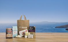 """New partnership with Aegean Airlines: Fee-le-pse toos (""""treat them"""" in Greek) Following our partnership with Marriot Hotels, we begin the new season with a dynamic partnership: #AegeanAirlines offers Agora' s botanical olive oil soaps to those passengers that will receive a gift box as an expression of Greek hospitality. www.agorafinefoods.com http://filepsetous.gr/"""