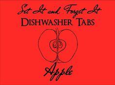 Set It & Forget It APPLE Dishwasher Tabs on Etsy, $5.50