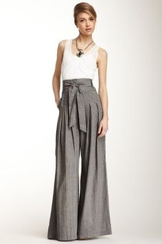 Cross Dyed Linen Coulotte Pant