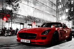 Beautiful Red Mercedes-Benz SLS AMG