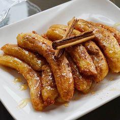 Repost @cinthyamaggi Banana ao forno é super fácil de fazer e fica uma…