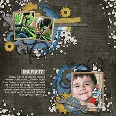 layout by Kirstie Ibrahim   Mr. Fix It Kit www.peppermintcreative.com