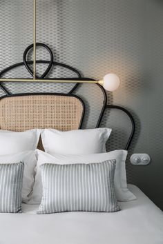 Get the look: the neo Art Deco spirit of Dorothée Meilichzon: cane headboard - Art deco inspiration: Interior, Art Deco Interior, Bedroom Design, Headboard Art, House Interior, Art Deco Bedroom, Deco Furniture, Interior Deco, House And Home Magazine