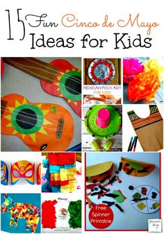 15 Fun Cinco de Mayo Ideas for Kids! A great way to celebrate and learn about a new culture! - abccreativelearning.com