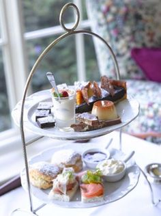 Afternoon Tea at Gregans Castle Hotel, Ballyvaughan, Co Clare Afternoon Tea London, High Tea Food, Tea Places, Country House Hotels, London Christmas, Formal Dinner, Mouth Watering Food, Castle, Yummy Food
