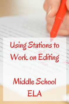 Using Editing Stations in Your Middle School ELA Classroom – Adventures in Inclusion Using Editing Stations for Middle School Writing Writing Prompts For Kids, Teaching Writing, Creative Writing, Science Writing, Teaching Ideas, Talk Is Cheap, 7th Grade Writing, Middle School Literacy, Writing Station