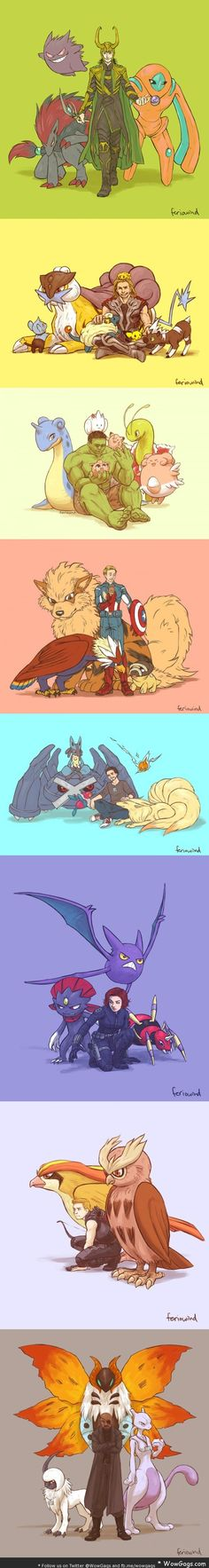 WowGags! If the Avengers had Pokemon
