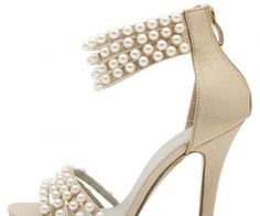 Gold Beads Decor Ankle Straps Gladiator Heels | The stiletto casual heels feature faux PU material, strappy cutout design, chic beads decor, peep toe look, single sole style, and back zipper closure. Wear these heels with your favorite sun dress for a chic look. -See more at: spenditonthis.com
