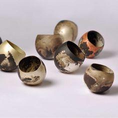 Peter Bauhuis vessels The National Ceramic Clay, Ceramic Bowls, Sculpture Metal, Pottery Art, Raku Pottery, Schmuck Design, Contemporary Jewellery, Earthenware, Metal Art