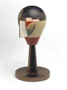 Sophie Taeuber-Arp, Tête dada, 1920, Bois tourné et peint, hauteur: 29,43cm, Paris, Centre Pompidou, © Adagp, Paris