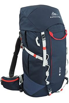 f855c43433 NORDKAMM – Backpacker Rucksack, Trekking-Rucksack, 50l - 60l, blau, Damen