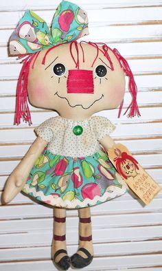 Apple Pie Annie Handmade Primitive Raggedy Ann