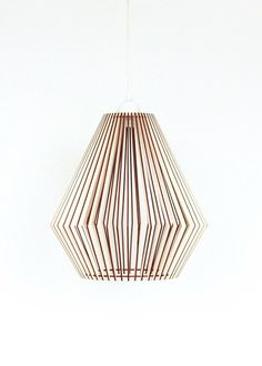 Wood Lamp / Wooden Lamp Shade / Hanging Lamp / Pendant by KWUDLV