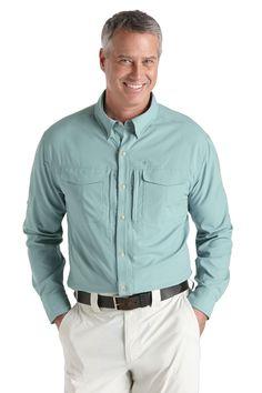 Men's Traveller UV Shirt -Green, UPF50+ Sun Protection