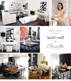 Chriselle Factor - rug and bookcases