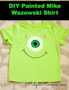 Disney DIY Painted Mike Wazowski Shirt