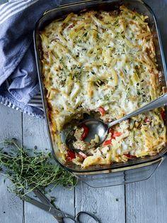 I Love Food, Tofu, Lasagna, Quiche, Greek, Vegetables, Breakfast, Ethnic Recipes, Morning Coffee