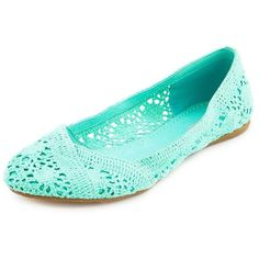 Macrame Wrap Ballet Flat ($17) ❤ liked on Polyvore featuring shoes, flats, zapatos, mint, woven flats, charlotte russe shoes, flat shoes, ballet shoes and crochet ballet flats