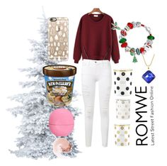 """""""Romwe jumper"""" by jazzypacman ❤ liked on Polyvore featuring Eos, NARS Cosmetics, Kate Spade, Casetify, Frame Denim and Bling Jewelry"""