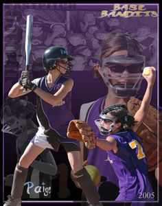 Youth Softball Pitcher Poster