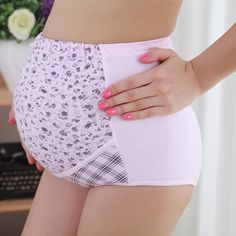 c284a3eef Adjustable Over The Bump Maternity Brief. Ropa Interior De MaternidadColor  ...