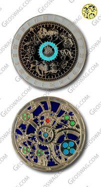 astronomical clock geocoin