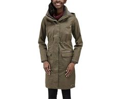"""Merrell is owning the OUTER LAYER category by providing a cute waist-cinching coat with - get this - INTERIOR POCKETS!!! Why this """"technology"""" is standard on men's coats, but not women's, is beyond me.  Merrell Windswept Jacket"""