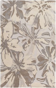 Surya Athena Floral and Paisley Area Rug Gray, Neutral