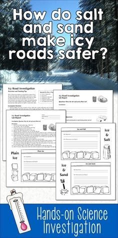 How do sand and salt make icy roads safer? Your students will be able to answer this question after they conduct this easy hands-on science experiment using simple materials such as ice, salt, and sand.