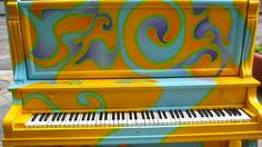 painted piano - swirls and colours by sjr8545, via Flickr