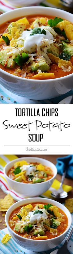 sweet potato soup with tortilla chips sweet potato soup with tortilla ...