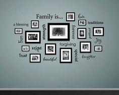 The Family is... Wall Decal is available in the color of your choice. See the color chart for your options. The photographs are for a reference be sure to use the m ..