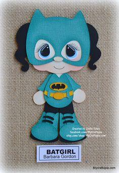 Batgirl superhéroe chica Premade Scrapbooking adorno papel
