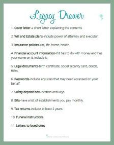 A legacy drawer is something everyone should have not for only you but your family as well. Get your FREE checklist to make setup a breeze! Emergency Binder, Emergency Preparedness Kit, Emergency Preparation, In Case Of Emergency, Survival, Funeral Planning Checklist, Just In Case, Just For You, When Someone Dies