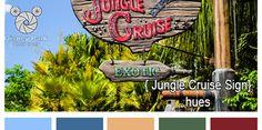 Disney Color Palletes - Magic Kingdom - Jungle Cruise Sign