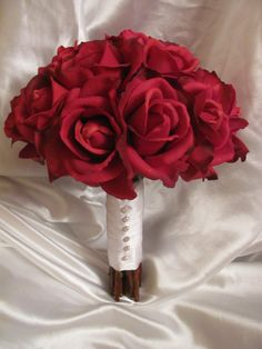 Real touch red rose bouquet