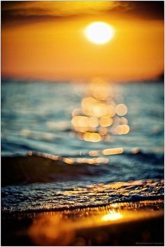 The Sunset bokeh ~ I really want to practice sunrise/ sunset photography. Beautiful Sunset, Beautiful World, Beautiful Places, Beautiful Flowers, Sun And Water, All Nature, Foto Art, Pics Art, Ciel