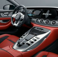 The new Mercedes-AMG GT model (X delivers driving experiences in new dimensions and extends the AMG model family. Mercedes Amg, Mercedes S Class, Mercedes Benz Interior, Automobile, Roadster, Best Luxury Cars, Luxury Cars Interior, Interior Design, Sport Cars