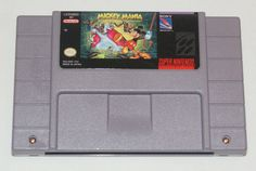 Mickey Mania SNES Super Nintendo cleaned tested works great label polished pins