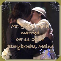 Mr. & Mrs. Gold married 05-11-2014 Storybrooke, Maine.   #RumBelle