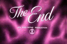 The End TV Shot