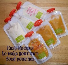 Easy Recipes to make your own food pouches