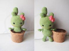 Crochet Amigurumi Rabbit Ideas Cactalina cactus crochet PATTERN, removable pot, crochet amigurumi, crochet cactus doll, amigurumi c - Crochet Amigurumi, Amigurumi Doll, Amigurumi Patterns, Crochet Dolls, Cactus En Crochet, Crochet Flowers, Crochet Cactus Free Pattern, Free Crochet, Half Double Crochet