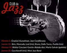 Club de Jazz - Música  El ciclo se desarrollará en el Edificio de la Secretaría de Cultura y busca potenciar el género y generar un nuevo reducto para las bandas de jazz ... http://sientemendoza.com/events/club-de-jazz-musica/