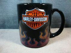 Harley Davidson Motorcycles Coffee Tea Mug Cup Flames Changing Colors 3D