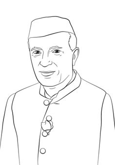 jawaharlal nehru coloring page from india category